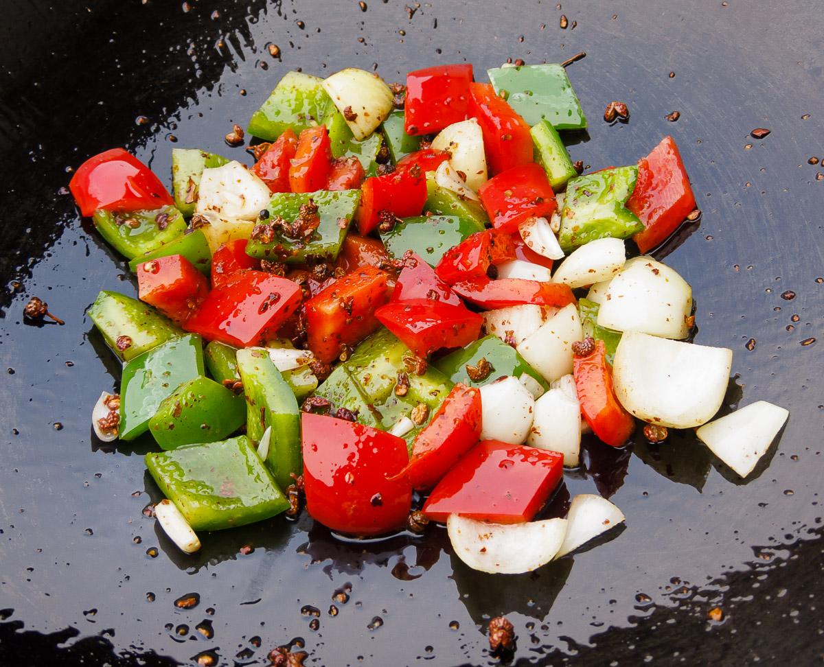 Gemüse braten
