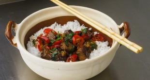 Rindfleisch mit Chili und Koriander
