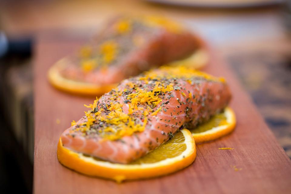 Lachs Orangenabrieb